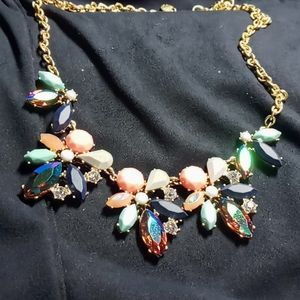 J Crew asymmetrical cluster necklace